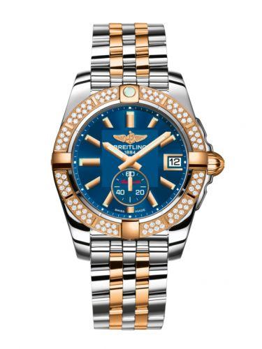 Breitling C3733053.C831.376C : Galactic 36 Automatic Stainless Steel / Rose Gold / Diamond / Gun Blue / Bracelet