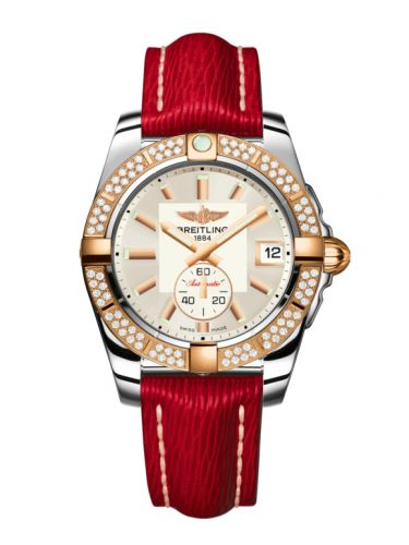Breitling C3733053.G714.214X : Galactic 36 Automatic Stainless Steel / Rose Gold / Diamond / Stratus Silver / Sahara