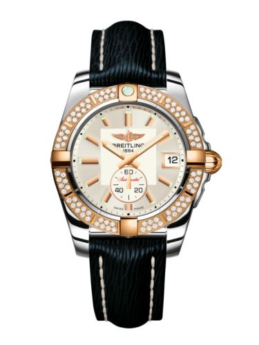 Breitling C3733053.G714.215X : Galactic 36 Automatic Stainless Steel / Rose Gold / Diamond / Stratus Silver / Sahara
