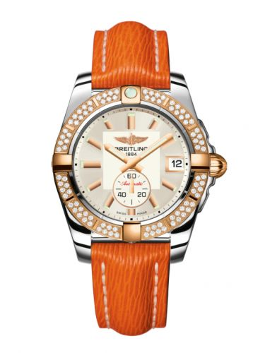 Breitling C3733053.G714.217X : Galactic 36 Automatic Stainless Steel / Rose Gold / Diamond / Stratus Silver / Sahara