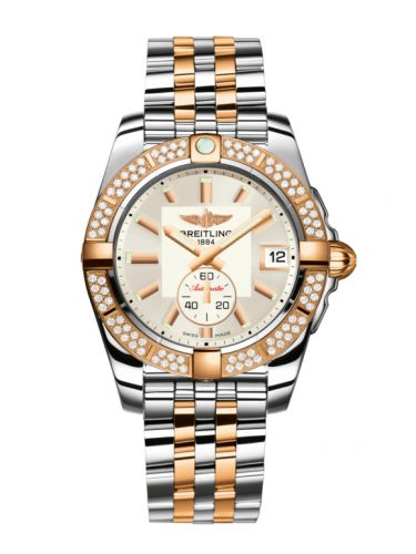 Breitling C3733053.G714.376C : Galactic 36 Automatic Stainless Steel / Rose Gold / Diamond / Stratus Silver / Bracelet
