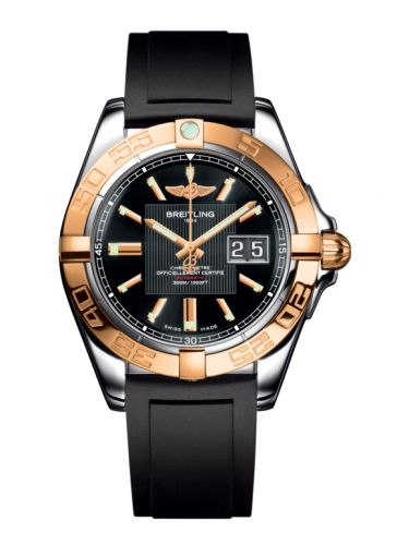 Breitling C49350L2.BA09.132S : Galactic 41 Stainless Steel / Rose Gold / Trophy Black / Rubber