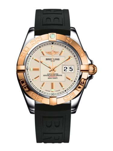 Breitling C49350L2.G701.150S : Galactic 41 Stainless Steel / Rose Gold / Sierra Silver / Rubber