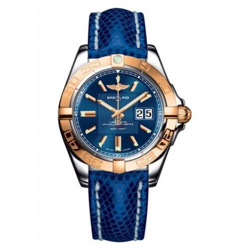 Breitling C49350L2.C810.143Z : Galactic 41 Stainless Steel / Rose Gold / Metallica Blue / Teju
