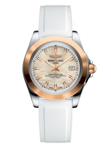 Breitling C7133012/A802/164S/A14S.1 : Galactic 32 Sleek Edition Stainless Steel / Rose Gold / Pearl / Rubber