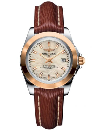 Breitling C7133012/A802/211X/A14BA.1 : Galactic 32 Sleek Edition Stainless Steel / Rose Gold / Pearl / Sahara