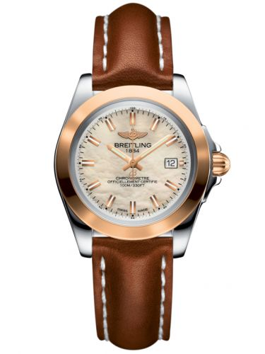 Breitling C7133012/A802/406X/A14BA.1 : Galactic 32 Sleek Edition Stainless Steel / Rose Gold / Pearl / Calf