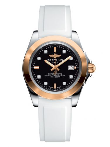 Breitling C7133012/BF64/164S/A14S.1 : Galactic 32 Sleek Edition Stainless Steel / Rose Gold / Trophy Black Diamond / Rubber