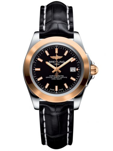 Breitling C7133012/BF65/777P/A14BA.1 : Galactic 32 Sleek Edition Stainless Steel / Rose Gold / Trophy Black / Croco
