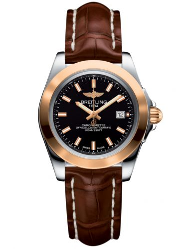 Breitling C7133012/BF65/778P/A14BA.1 : Galactic 32 Sleek Edition Stainless Steel / Rose Gold / Trophy Black / Croco
