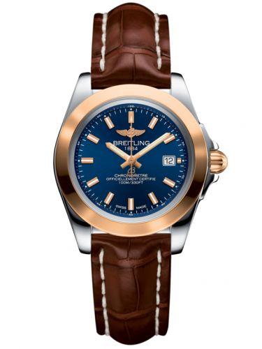 Breitling C7133012/C952/778P/A14BA.1 : Galactic 32 Sleek Edition Stainless Steel / Rose Gold / Horizon Blue / Croco