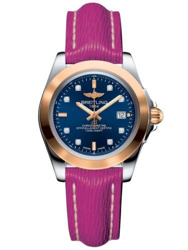 Breitling C7133012/C967/241X/A14BA.1 : Galactic 32 Sleek Edition Stainless Steel / Rose Gold / Horizon Blue Diamond / Sahara