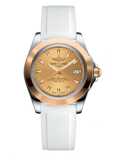 Breitling C7133012/H549/164S/A14S.1 : Galactic 32 Sleek Edition Stainless Steel / Rose Gold / Golden Sun / Rubber