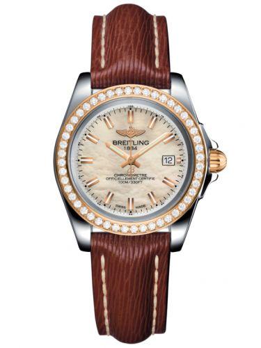 Breitling C7133053/A802/211X/A14BA.1 : Galactic 32 Sleek Edition Stainless Steel / Rose Gold / Diamond / Pearl / Sahara