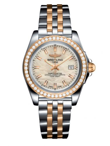 Breitling C71330531A1C1 : Galactic 32 Sleek Edition Stainless Steel / Rose Gold / Diamond / Pearl / Bracelet
