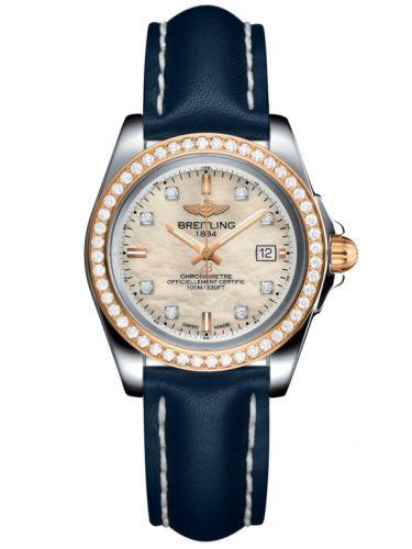 Breitling C7133053/A803/116X/A14BA.1 : Galactic 32 Sleek Edition Stainless Steel / Rose Gold / Diamond / Pearl Diamond / Calf