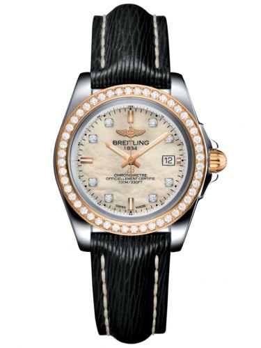 Breitling C7133053/A803/208X/A14BA.1 : Galactic 32 Sleek Edition Stainless Steel / Rose Gold / Diamond / Pearl Diamond / Sahara