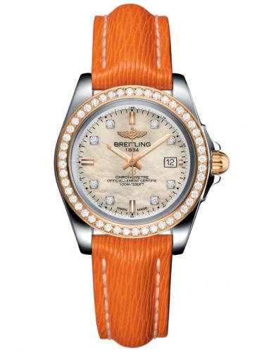 Breitling C7133053/A803/212X/A14BA.1 : Galactic 32 Sleek Edition Stainless Steel / Rose Gold / Diamond / Pearl Diamond / Sahara