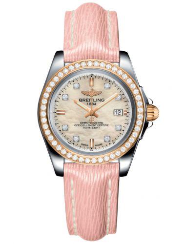 Breitling C7133053/A803/238X/A14BA.1 : Galactic 32 Sleek Edition Stainless Steel / Rose Gold / Diamond / Pearl Diamond / Sahara