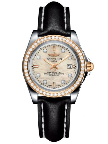 Breitling C7133053/A803/408X/A14BA.1 : Galactic 32 Sleek Edition Stainless Steel / Rose Gold / Diamond / Pearl Diamond / Calf