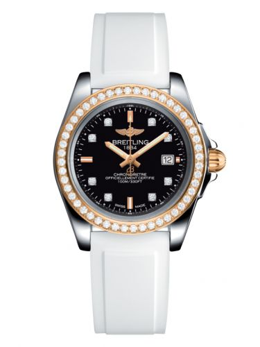 Breitling C7133053/BF64/164S/A14S.1 : Galactic 32 Sleek Edition Stainless Steel / Rose Gold / Diamond / Trophy Black Diamond / Rubber