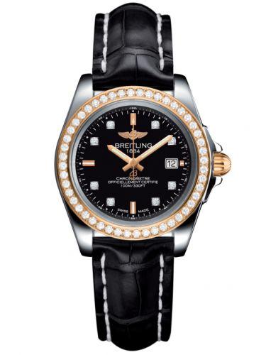 Breitling C7133053/BF64/777P/A14BA.1 : Galactic 32 Sleek Edition Stainless Steel / Rose Gold / Diamond / Trophy Black Diamond / Croco