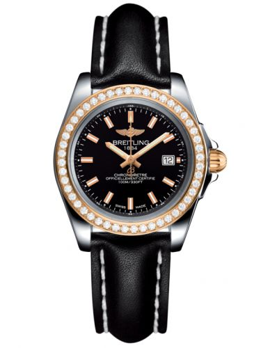 Breitling C7133053/BF65/408X/A14BA.1 : Galactic 32 Sleek Edition Stainless Steel / Rose Gold / Diamond / Trophy Black / Calf