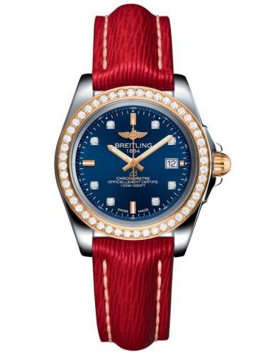 Breitling C7133053/C967/209X/A14BA.1 : Galactic 32 Sleek Edition Stainless Steel / Rose Gold / Diamond / Horizon Blue Diamond / Sahara
