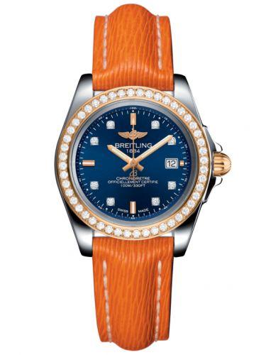 Breitling C7133053/C967/212X/A14BA.1 : Galactic 32 Sleek Edition Stainless Steel / Rose Gold / Diamond / Horizon Blue Diamond / Sahara