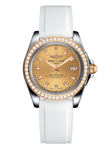 Breitling C7133053/H549/164S/A14S.1 : Galactic 32 Sleek Edition Stainless Steel / Rose Gold / Diamond / Golden Sun / Rubber