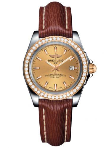 Breitling C7133053/H549/211X/A14BA.1 : Galactic 32 Sleek Edition Stainless Steel / Rose Gold / Diamond / Golden Sun / Sahara