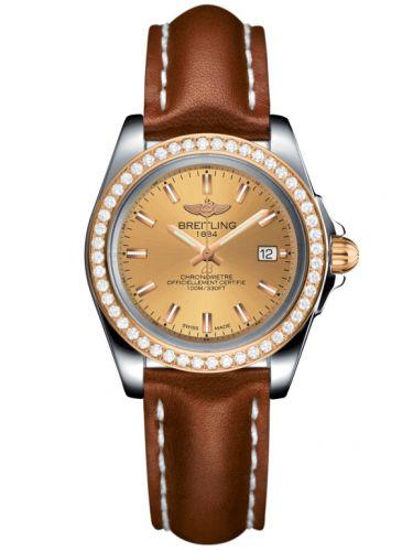 Breitling C7133053/H549/406X/A14BA.1 : Galactic 32 Sleek Edition Stainless Steel / Rose Gold / Diamond / Golden Sun / Calf
