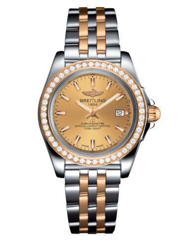 Breitling C7133053/H549/792C : Galactic 32 Sleek Edition Stainless Steel / Rose Gold / Diamond / Golden Sun / Bracelet