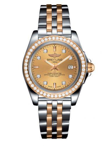 Breitling C7133053/H550/792C/A14BA.1 : Galactic 32 Sleek Edition Stainless Steel / Rose Gold / Diamond / Golden Sun Diamond / Bracelet