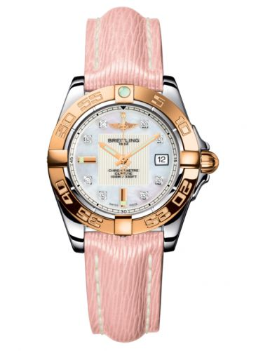Breitling C71356L2.A712.238X : Galactic 32 Stainless Steel / Rose Gold / Pearl Diamond / Sahara