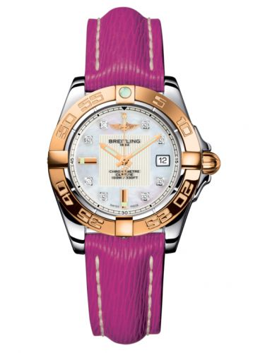 Breitling C71356L2.A712.241X : Galactic 32 Stainless Steel / Rose Gold / Pearl Diamond / Sahara