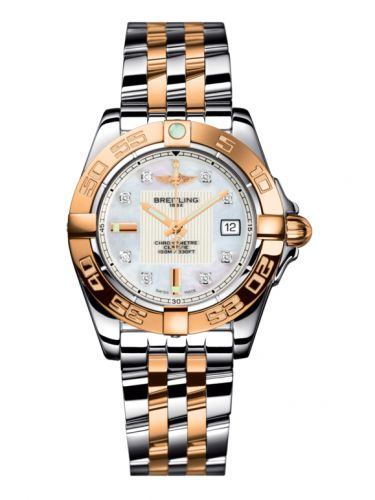 Breitling C71356L2.A712.367C : Galactic 32 Stainless Steel / Rose Gold / Pearl Diamond / Bracelet