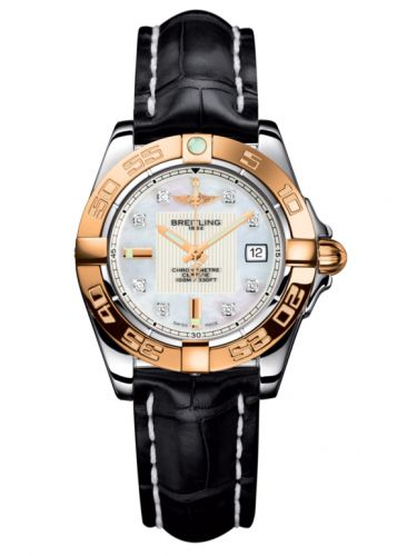 Breitling C71356L2.A712.777P : Galactic 32 Stainless Steel / Rose Gold / Pearl Diamond / Croco