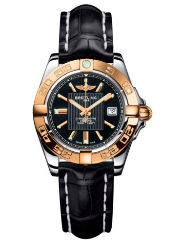Breitling C71356L2.BA12.777P : Galactic 32 Stainless Steel / Rose Gold / Trophy Black / Croco