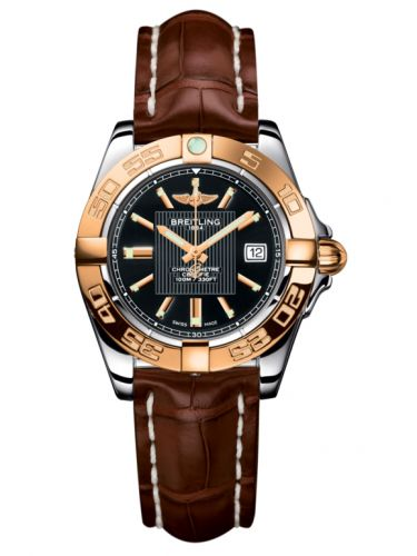 Breitling C71356L2.BA12.778P : Galactic 32 Stainless Steel / Rose Gold / Trophy Black / Croco