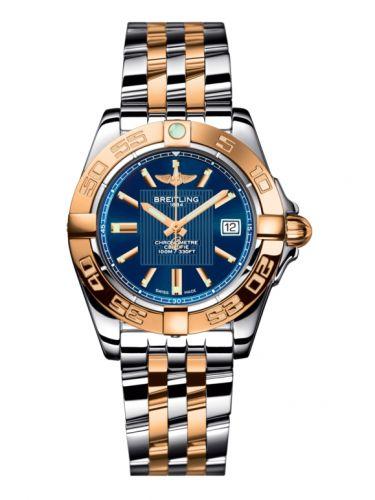 Breitling C71356L2.C813.367C : Galactic 32 Stainless Steel / Rose Gold / Metallica Blue / Bracelet