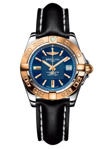 Breitling C71356L2.C813.408X : Galactic 32 Stainless Steel / Rose Gold / Metallica Blue / Calf