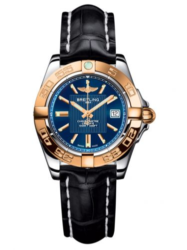 Breitling C71356L2.C813.777P : Galactic 32 Stainless Steel / Rose Gold / Metallica Blue / Croco