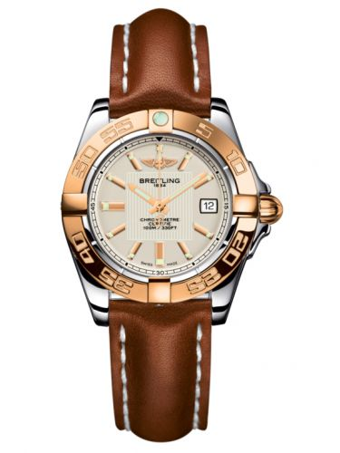 Breitling C71356L2.G704.406X : Galactic 32 Stainless Steel / Rose Gold / Sierra Silver / Calf