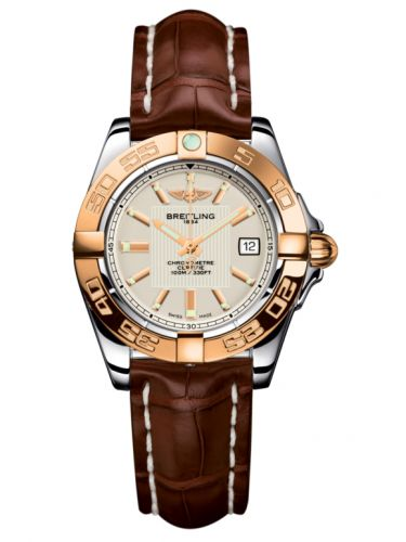 Breitling C71356L2.G704.778P : Galactic 32 Stainless Steel / Rose Gold / Sierra Silver / Croco