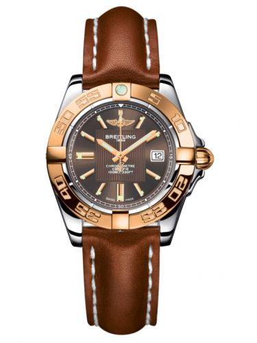 Breitling C71356L2.Q581.406X : Galactic 32 Stainless Steel / Rose Gold / Solar Bronze / Calf