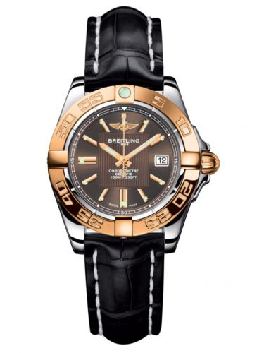 Breitling C71356L2.Q581.777P : Galactic 32 Stainless Steel / Rose Gold / Solar Bronze / Croco