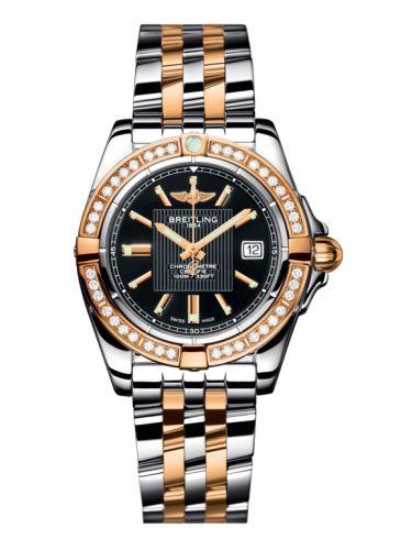 Breitling C71356LA.BA12.367C : Galactic 32 Stainless Steel / Rose Gold / Diamond / Trophy Black / Bracelet