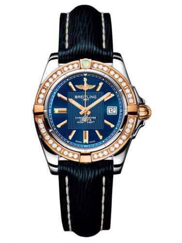 Breitling C71356LA.C813.210X : Galactic 32 Stainless Steel / Rose Gold / Diamond / Metallica Blue / Sahara