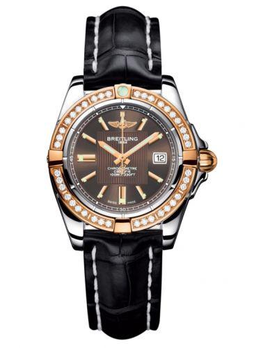 Breitling C71356LA.Q581.777P : Galactic 32 Stainless Steel / Rose Gold / Diamond / Solar Bronze / Croco